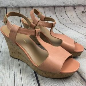 franco sarto peach wedges